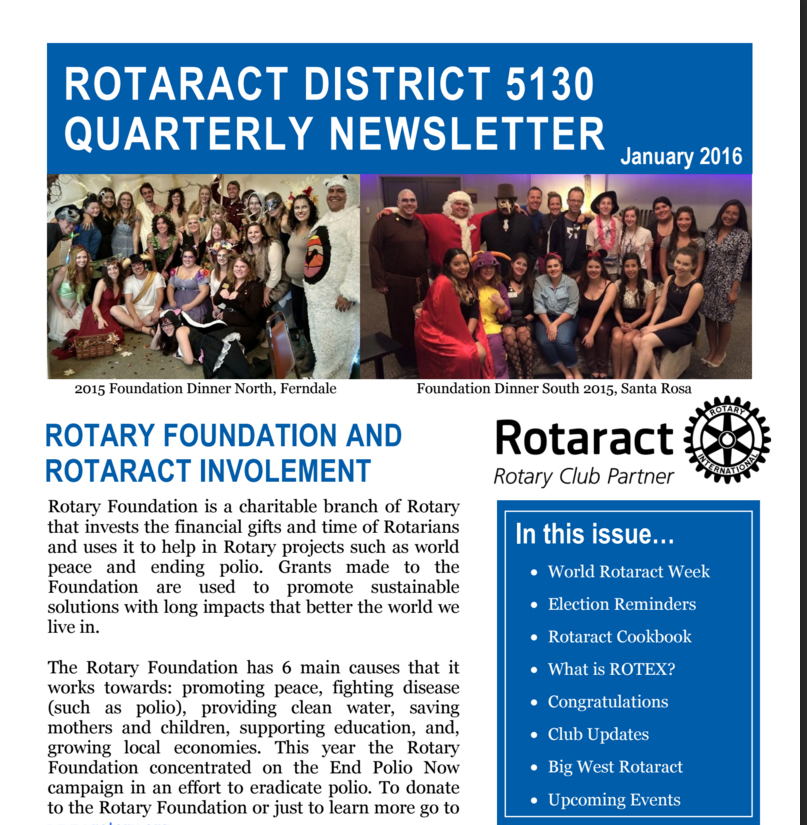 Dist 5130 Newsletter