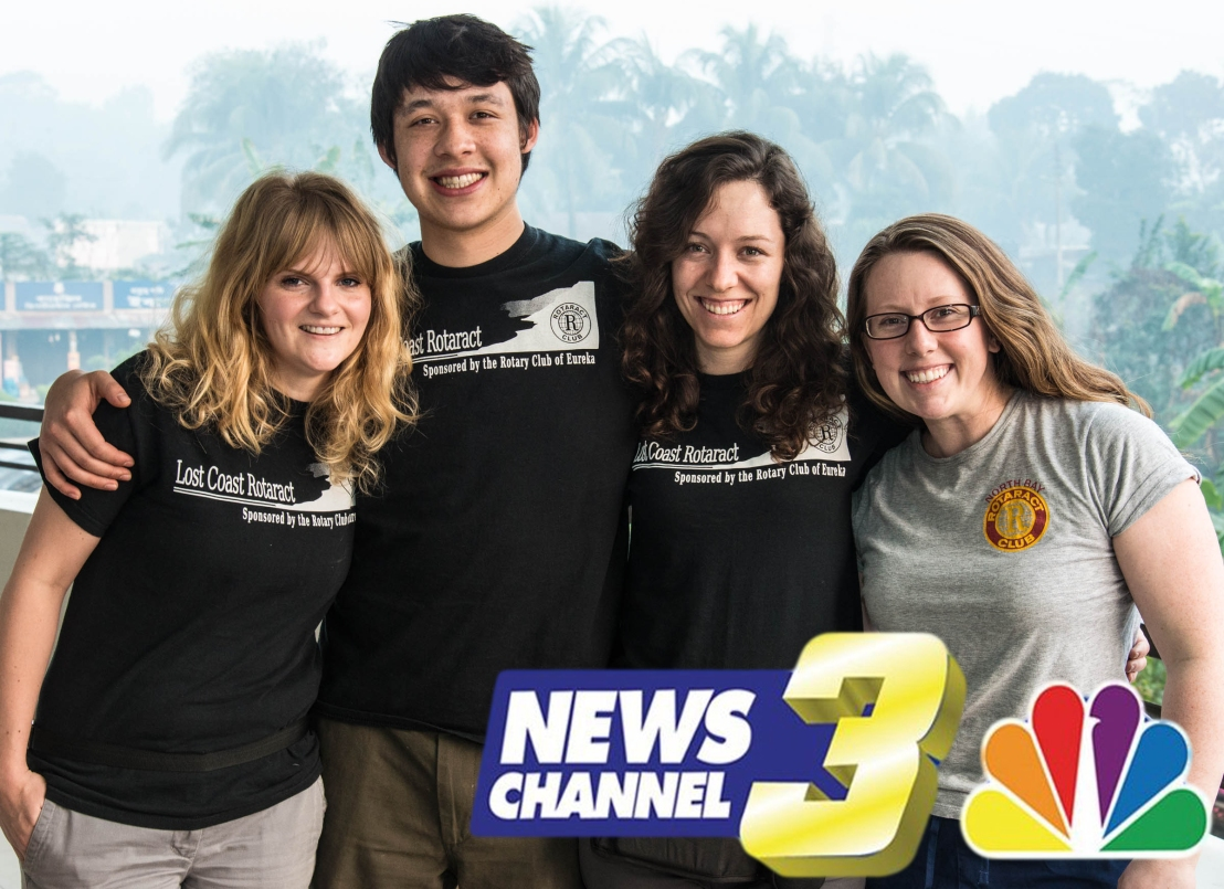 Lost Cost Rotaractors on News Channel 3! – Lost Coast Rotaract